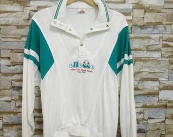 Ellesse Sweatshirt Sweater Vintage Ellesse Pullover 90's Ellesse Jumper Ellesse Chiaro Vivo Tennis Italian Embroidered Ellesse