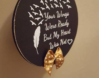Your wings were ready, my heart was not Christmas bauble
