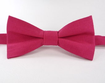 Deep pink Bow Tie For Wedding, Men pink Bow Tie, Bow Tie For Groomsmen, boys bow tie, baby bow tie, toddler bow tie, pink bow tie