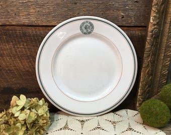 Metropolitan Life Insurance Co Plate/Restaurant Ware/Dinner Plate/White Ironstone