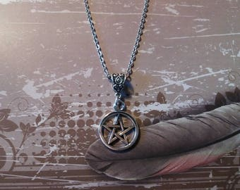 Pentacle necklace, wiccan, pagan, wicca, wiccan jewlery jewlery, pentacle, elements, Akasha, wiccan, pagan Goddess necklace, necklace
