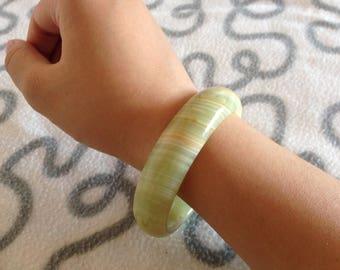 Burma Jade Bracelet/Jade Bangle/Jade Accessory handmade genuine jade 60-62mm