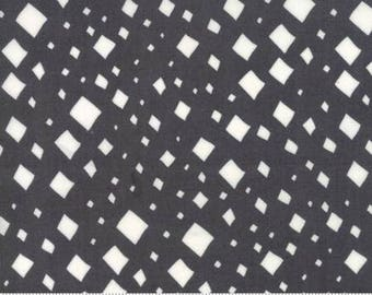 Diamonds in Charcoal - Savannah by Gingiber - cotton fabric