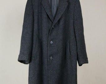 Best Summer Sale Harris Tweed Long Wool Coat
