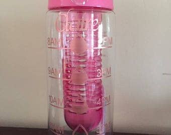 Personalised water bottle, motivational water bottle, time tracker bottle, water bottle tracker, water intake bottle