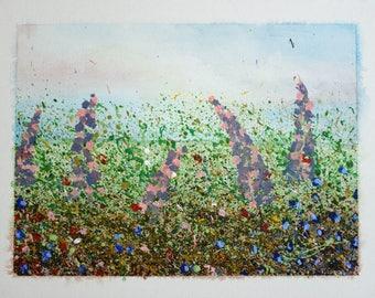 Hand Painted Meadow Flowers Print