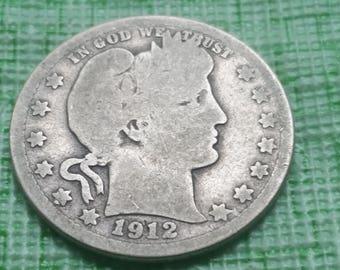 1912S  Barber  US  Quarter,   #O603