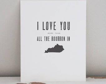 kentucky bourbon print