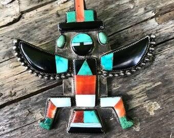 Zuni Knife Wing Dancer Pin