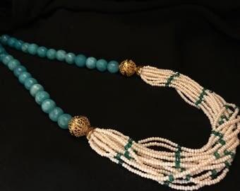 SALE on Blue Onyx Necklace