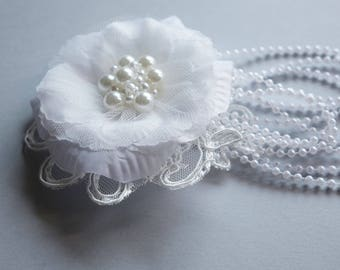 Wedding Hair Flower,White Hair Flower, Bridal Hair Piece, Flower Wedding Hair Piece, Bridal Hairpiece, Bridal Hair Accessory