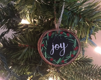 Joy- Hand-Painted Ornament