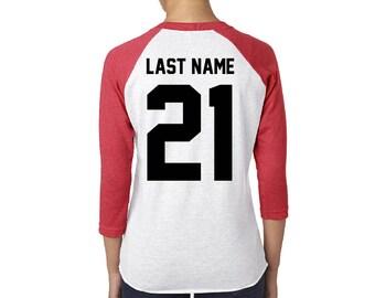 Last Name Race Shirt
