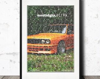 Frank Ocean - Novacane / Nostalgia Ultra / Lyric Poster Artwork Print - Limited Edition!