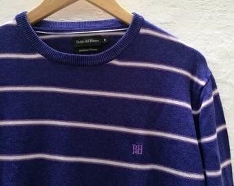 PDH Vintage sweater//vintage clothing/Peter Iron/Navy blue/Medium size/1990s/sailor/knit/vintage sweater/demi-season
