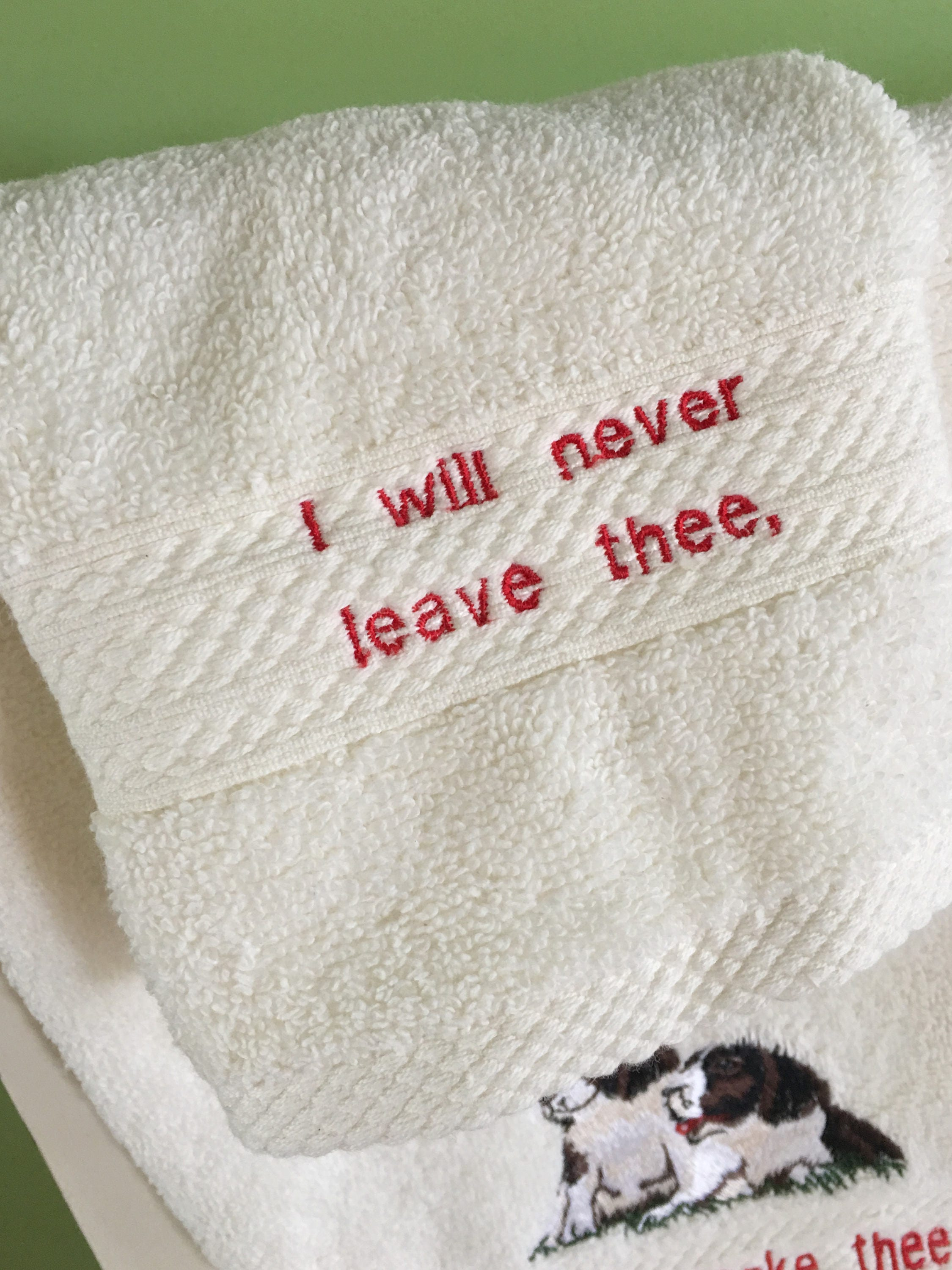 Personalized Towel Set - Personalized Embroidered Towel Set - Embroidered  Guest Towel - Scripture Embroidered Gift