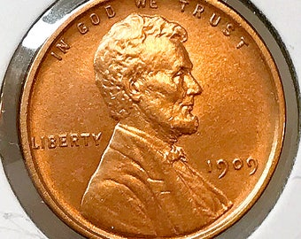 1909 P Lincoln Wheat Cent - Choice BU / MS / Unc