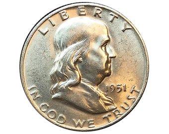 1951 D Franklin Half Dollar - Choice BU / MS / UNC