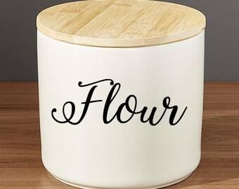 Flour Decal Vinyl, Flour Sticker, Flour Decal, Home Decor, Flour container decal