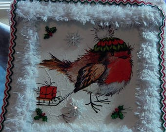 Christmas  8x8 and 6x6 wall decorations with ribbon to hang. Gift wrapping is available. I usually ship out in 1-3 days.