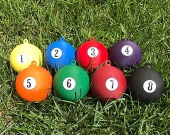 Gender Reveal Pool Balls - Set of 8 Solid Pool Balls