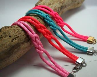 Sweet simple pink rope knot bracelet