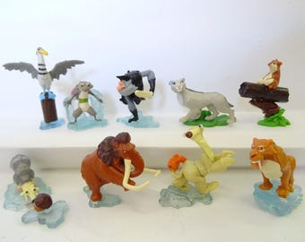 ICE AGE Cake Topper 9 Figures Set Birthday Party Cupcakes Figurines Supplies