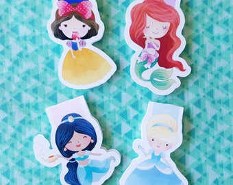Fairy Tale Princess Magnetic Bookmarks (Set A)