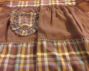 PRE-SUMMERSALE Vintage brown apron