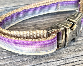 """Ombre Teacup Dog Collar, Gradient Colors 3/8"""" Wide Dog Collar, Ombre Puppy Collar"""
