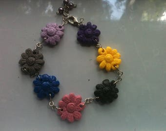 The Sunflower Poly Clay Bracelet
