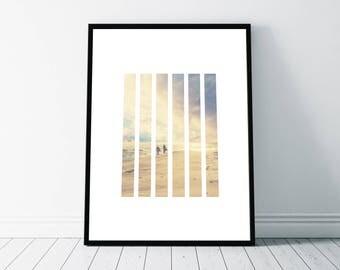 Beach Sunset Print, Minimalist Design Art Print, Beach Print, Modern Photography Print, Beach Sunset Art, Nature Abstract Art, Nature Print