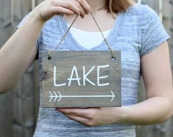 Lake Signs - Lake House Decor - Rustic Lake House Decor - Nautical Decor - Rustic Wood Signs - Wood Sign - Wood Wall Art - Rustic Home Decor