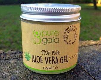 95% Pure Aloe Vera Gel, Skin Tightening & Glow For Face, Bum And Boobs (60ml/2.1 fl oz)