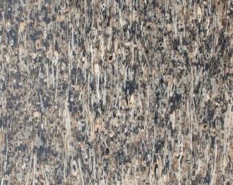 Natural Cork Fabric – Straw Black