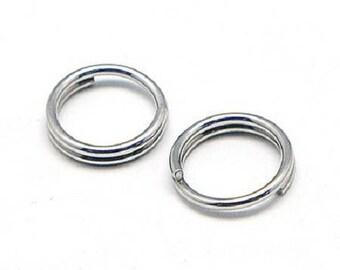 100 5mm diameter stainless steel rings