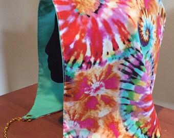 Tie Dye Batik Festival Hood