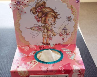 Decorative Tissue Box Cover/Gift - Fairy with Tissues