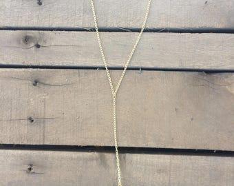 Aqua Aura Quartz Y Necklace