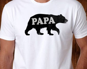 PAPA Bear Shirt - Gift for Papa - Father's Day Gift - Papa Gift - Papa Shirt - Shirt for Papa -Granpa Shirt - Gift for Grandpa