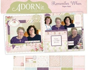 Summer Sale ADORNit - Remember When Paper Pack - 12x12