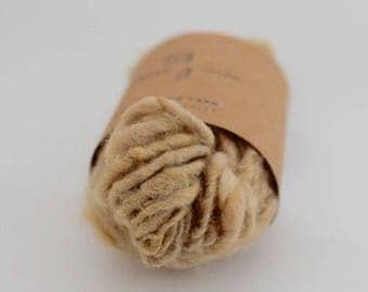 Hand spun yarn, alpaca yarn, hand dyed yarn, naturally dyed alpaca yarn, 39g