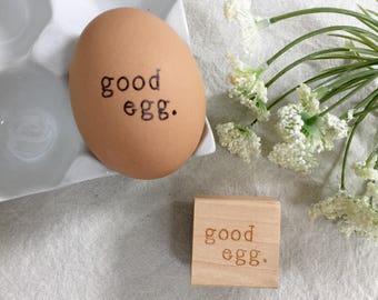 Egg Stamp - The Original Good Egg - Fresh Egg Stamp - Stamp for Eggs - Chickens - Homesteading - Rubber Chicken Stamp - Chicken Kitche