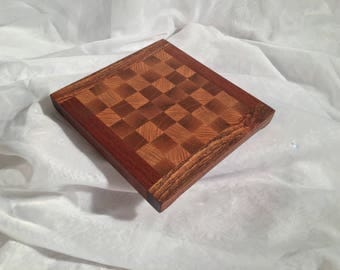 End-Grain Checker Cutting Board