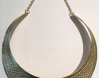 Golden necklace Choker type ethnic evening Choker necklace chic women gift girl special occasion gift