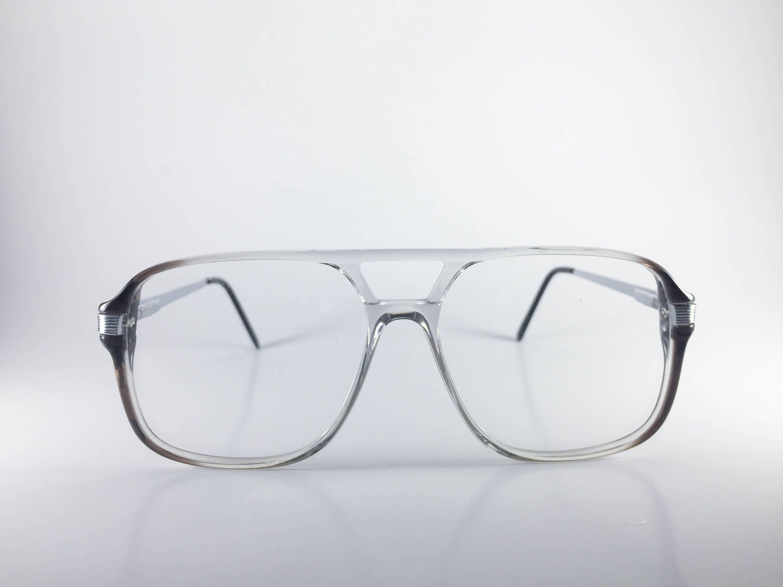 5bb05a43c65 Continental Eyewear Vintage Eyeglasses Ken-Dee 56-20 Gray Plastic Metal NOS  Deadstock -