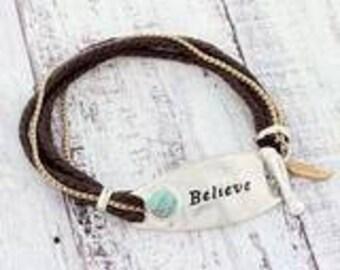 Believe toggle bracelet