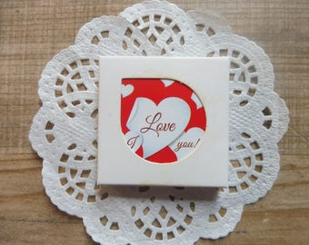 "Stickers 38 pezzi/pieces set with assorted designs vintage style ""Love"""