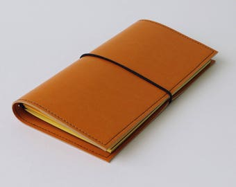 PU midori journal, Midori traveler journal, eco-leather journal, journal for travelers, vegan notebook, Midori notebook