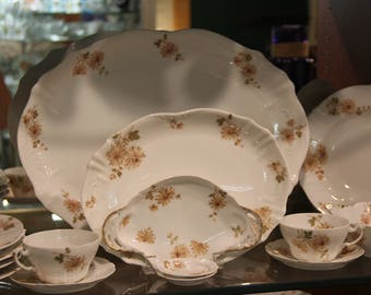 Haviland Limoges China France Chrysanthemum Pattern